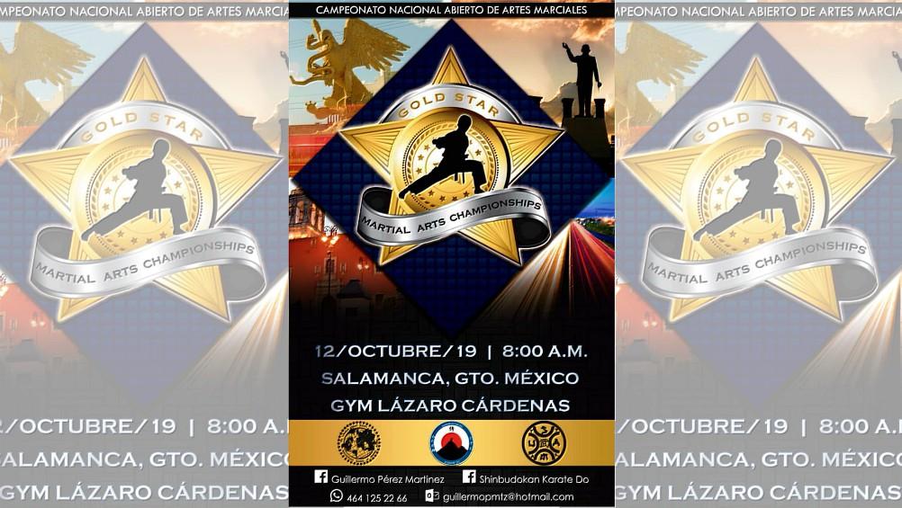 Iniciaron los preparativos para la realización del VI Campeonato Nacional Abierto de Artes Marciales 'Gold Star' 2019, uno de los eventos de este tipo considerados entre los mejores de la ciudad de Salamanca, Guanajuato, el cual será organizado por la asociación Shinbudokan Karate Do.