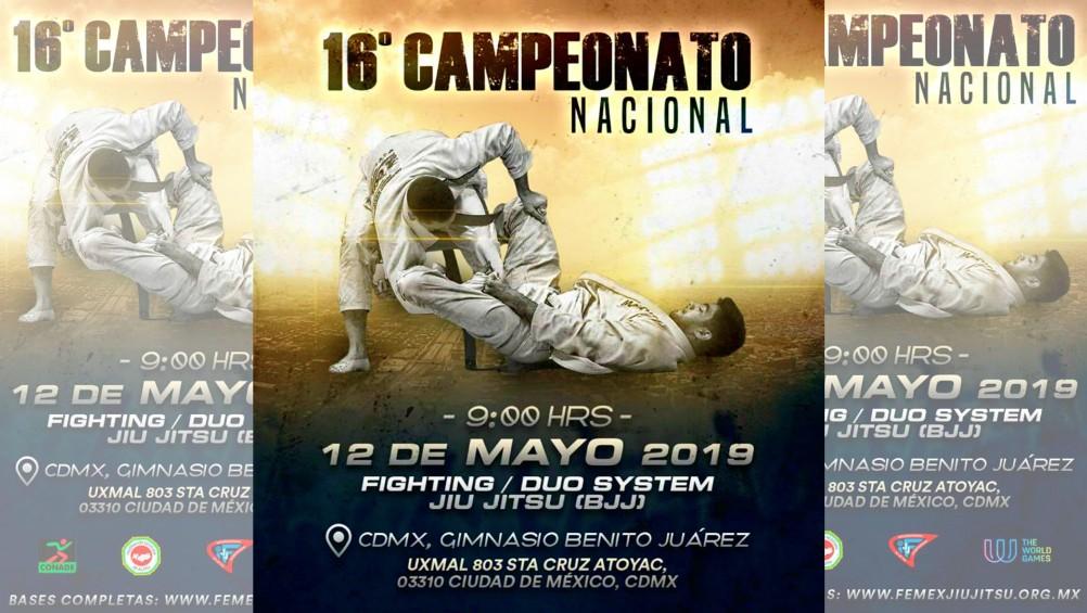 """Practicantes de jiujitsu de diferentes partes del país se darán cita en la CDMX, para ser parte del 16º Campeonato Nacional """"Daniel F. Hernández""""."""
