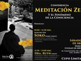 Como parte de sus últimas actividades en la Ciudad de México para promover la Meditación Zen, una de las bases esenciales para el desarrollo de las artes marciales, el maestro Soko Pierre Leroux ofrecerá una conferencia sobre esta práctica para la concentración y la utilización de energía, así como para estar y vivir el aquí y el ahora.