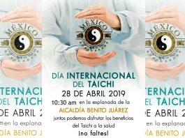 Integrantes del Movimiento México Unido por el Taichí celebrarán el Día Internacional de este arte marcial con todos sus beneficios para la salud física, mental y espiritual, con una clase abierta y gratuita que se efectuará en la Explanada de la Alcaldía Benito Juárez CDMX.