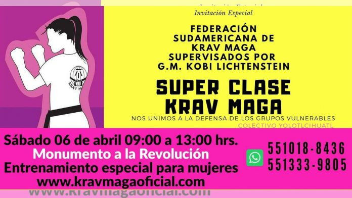 Ante el clima de acoso, agresiones e inseguridad contra las mujeres de la CDMX, la Federación Sudamericana de Krav Maga-México (FSAKM-Mx), en coordinación con el Colectivo Yólotl Cíhuatl, ofrecerá una clase masiva abierta y gratuita de defensa personal en el Monumento a la Revolución.