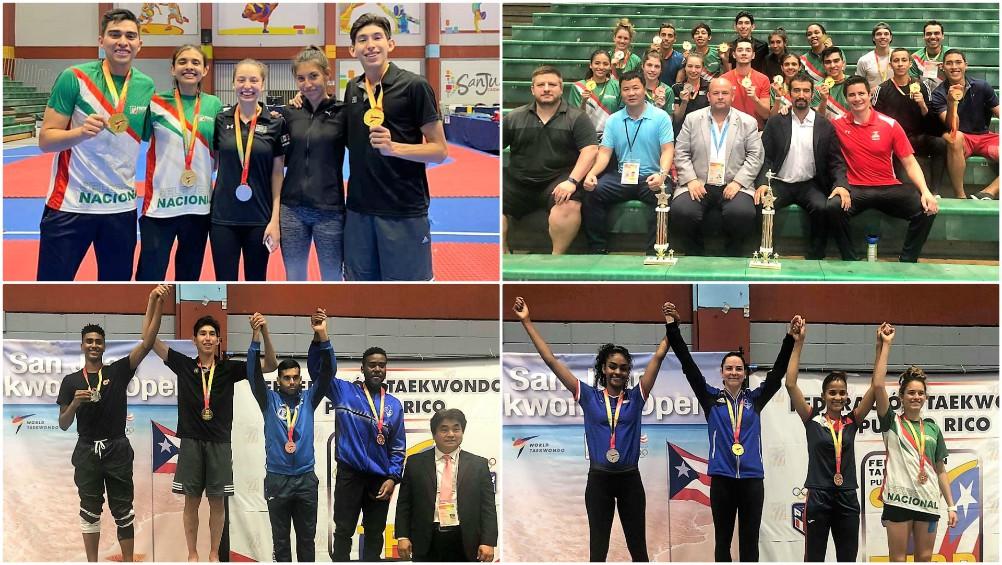 Una gran actuación tuvo el equipo de la Selección Mexicana de Taekwondo en el Abierto de San Juan, Puerto Rico, donde lograron conquistar 10 medallas de oro, una plata y dos bronces, además de obtener el premio al mejor atleta varonil y entrenador.