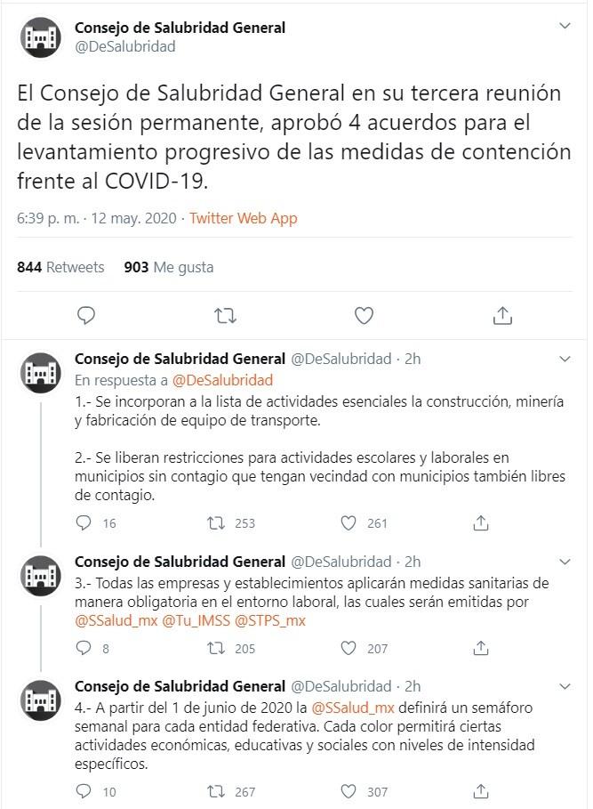 Imagen Twitter @DeSalubridad.